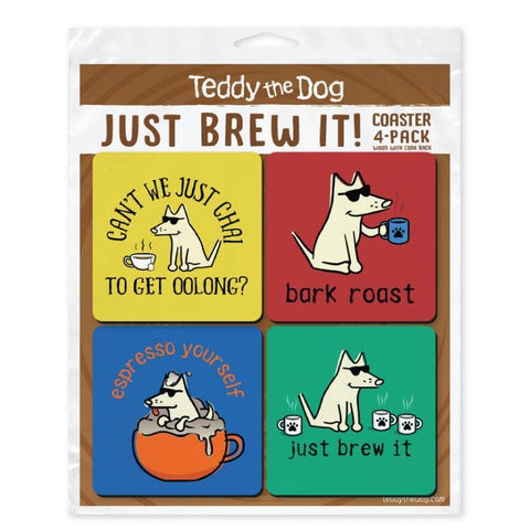 Just Brew It Coaster 4-Pack