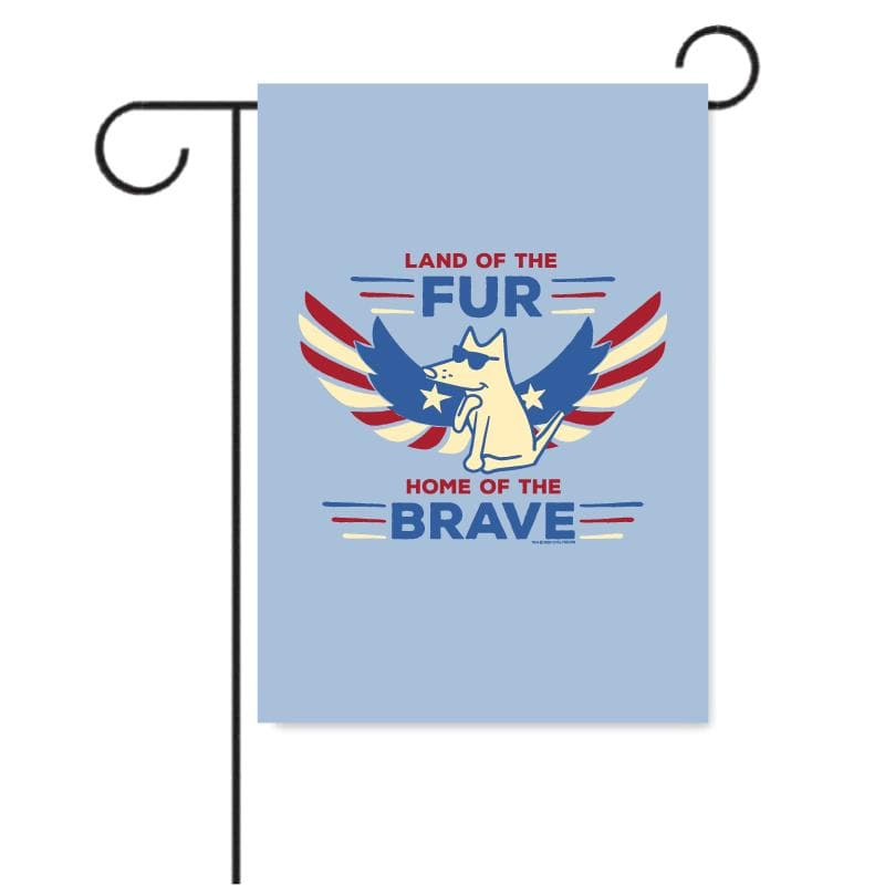 Land Of The Fur, Home Of The Brave - Garden Flag