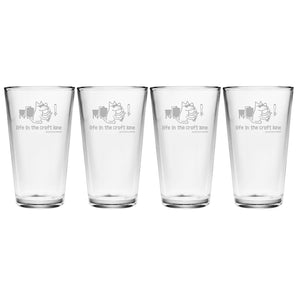 Life In The Craft Lane - Beer Glass