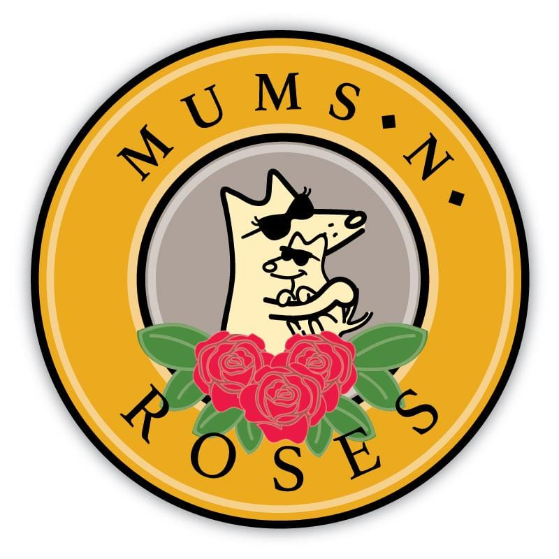 Mums And Roses - Car Magnet