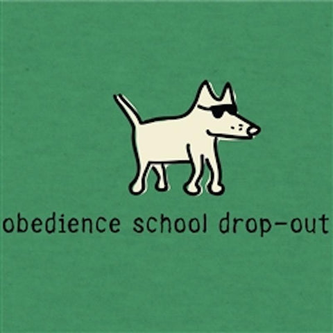 Obedience School Dropout - T-Shirt Lightweight Blend - Teddy the Dog T-Shirts and Gifts
