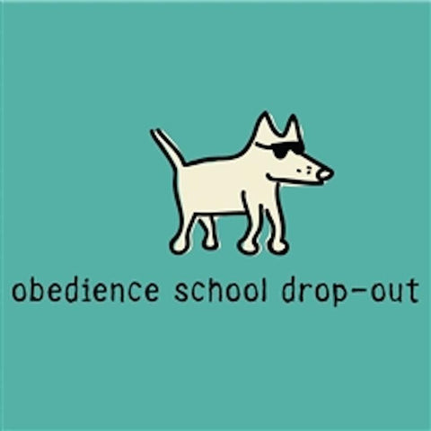 Obedience School Dropout - Ladies T-Shirt V-Neck - Teddy the Dog T-Shirts and Gifts