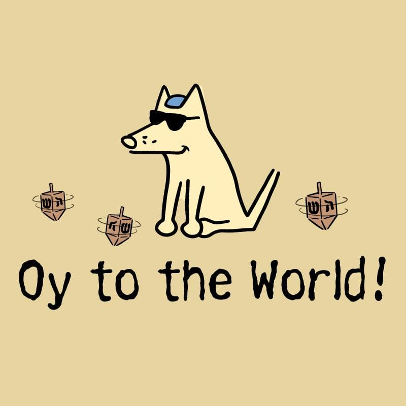 Oy To The World! - Ladies T-Shirt V-Neck