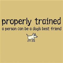 Properly Trained - Ladies T-Shirt V-Neck - Teddy the Dog T-Shirts and Gifts