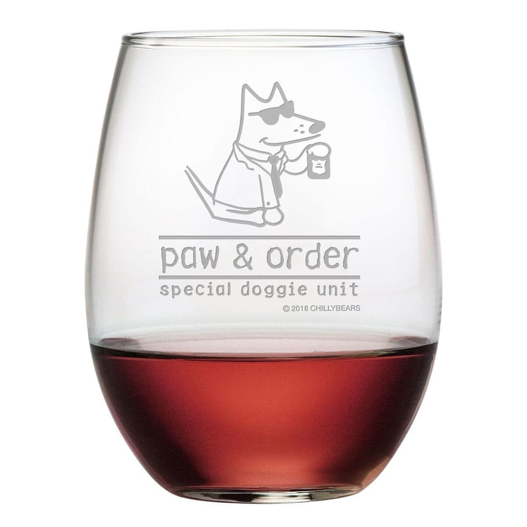 Paw & Order - Wine Glass
