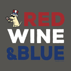 Red Wine And Blue - Ladies T-Shirt V-Neck