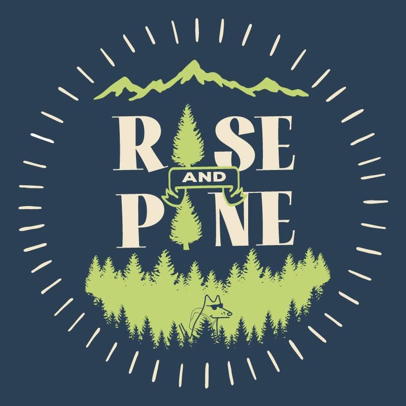 Rise And Pine - Ladies Curvy V-Neck Tee