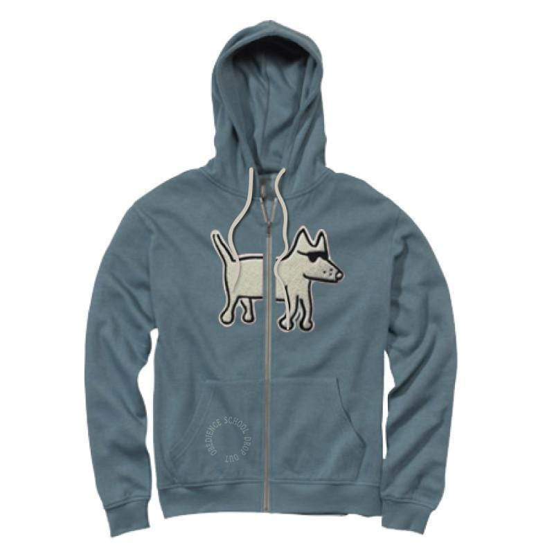 teddy the dog full zip hoodie sweatshirt split applique