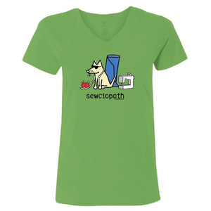 Sewciopath - Ladies T-Shirt V-Neck