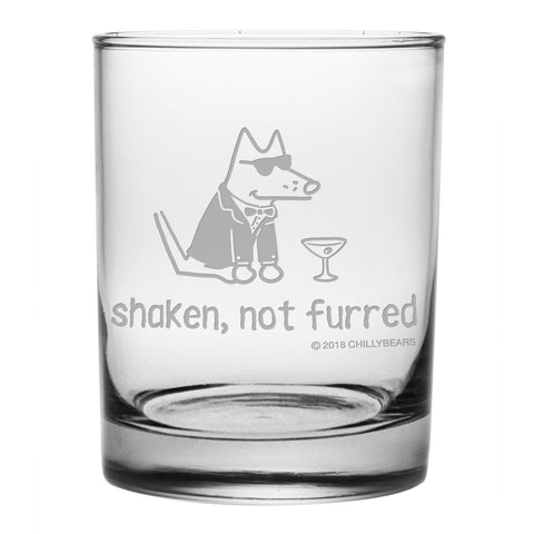 Shaken, Not Furred - Low Ball Glass