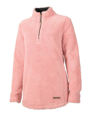 Ladies Quarter Zip - Fuzzy Fleece