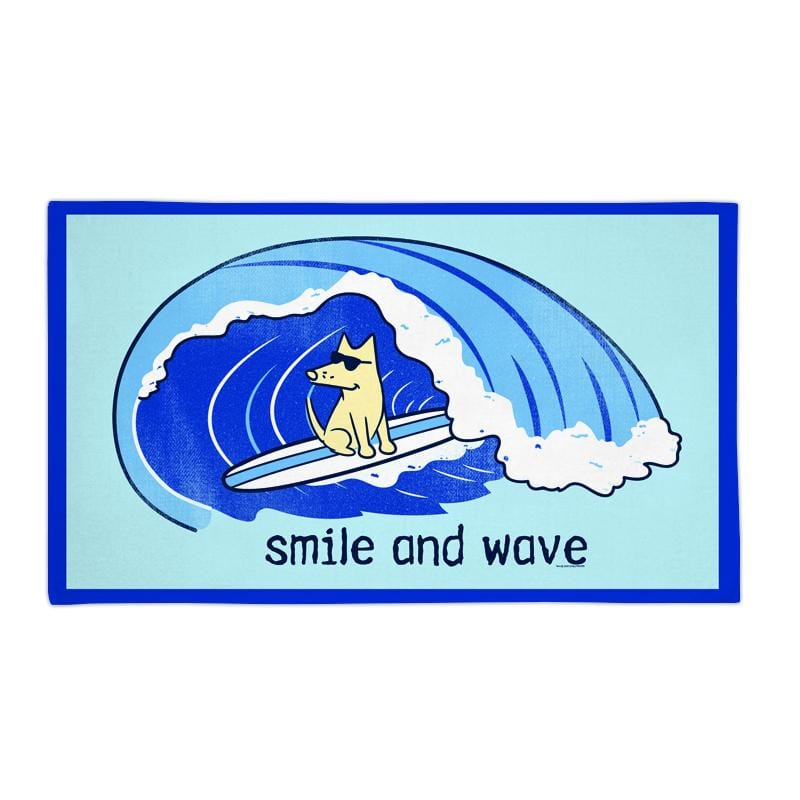 Smile And Wave - Beach Towel