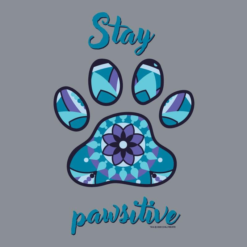 Stay Pawsitive - Crew Neck Sweatshirt