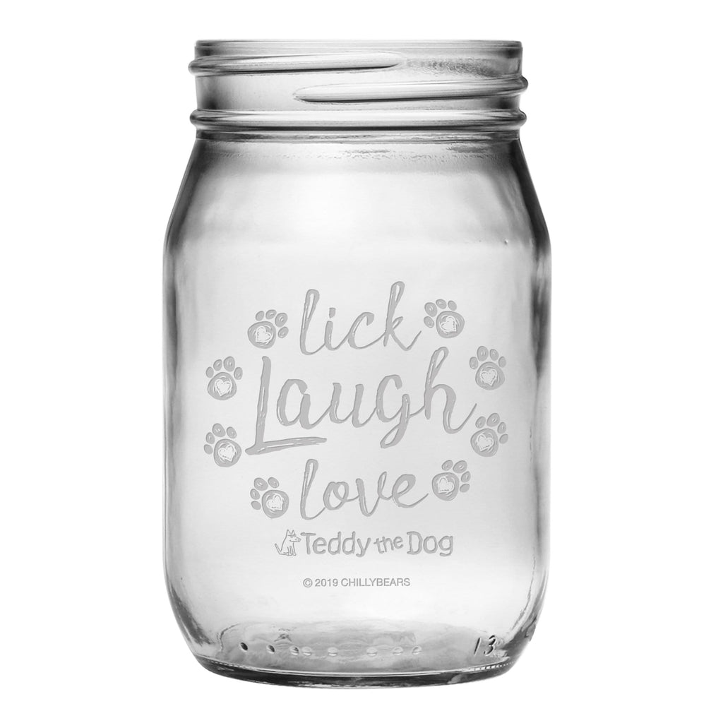 Lick, Laugh, Love  - Mason Jar