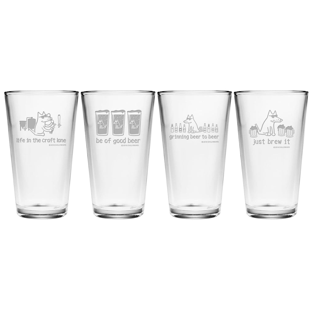 Craft Mix - Assorted Set of 4 Pint Glasses