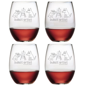 Bullsit Artist - Wine Glass