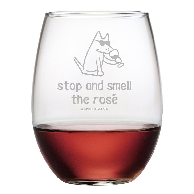 Stop And Smell The Rosé - Wine Glass