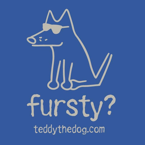 Fursty? Stainless Steel Insulated Water Bottle - Teddy the Dog T-Shirts and Gifts