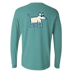teddy the dog classic long sleeve pocket t-shirt