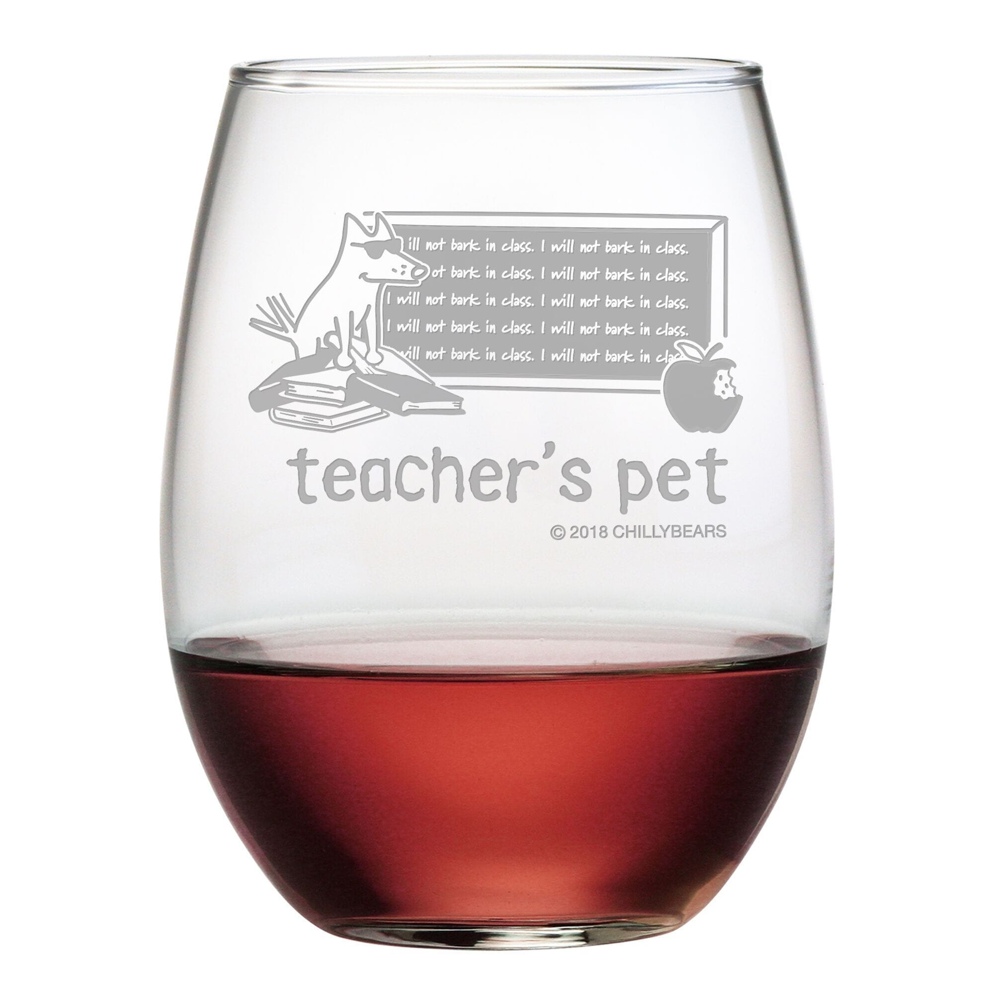 Teacher's Pet - Wine Glass