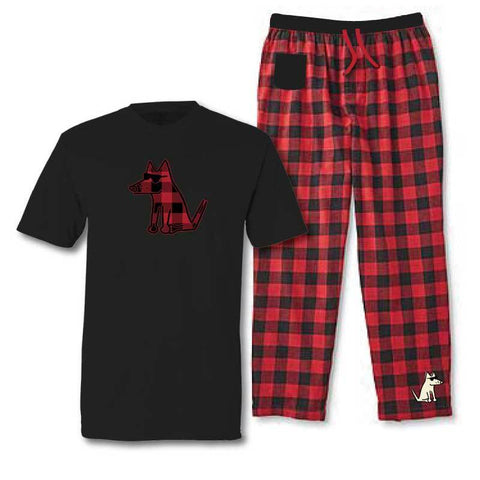 Teddy's Plaid Pajama Set