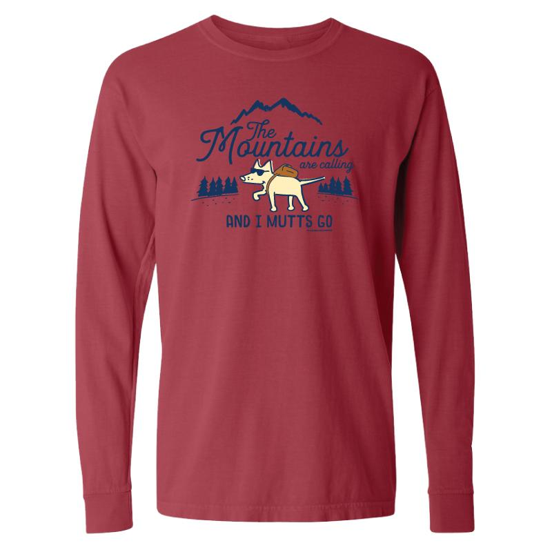 The Mountains Are Calling And I Mutts Go - Long-Sleeve T-Shirt Classic