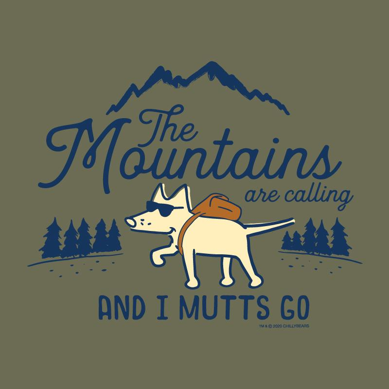 The Mountains Are Calling And I Mutts Go - Long-Sleeve Hoodie T-Shirt