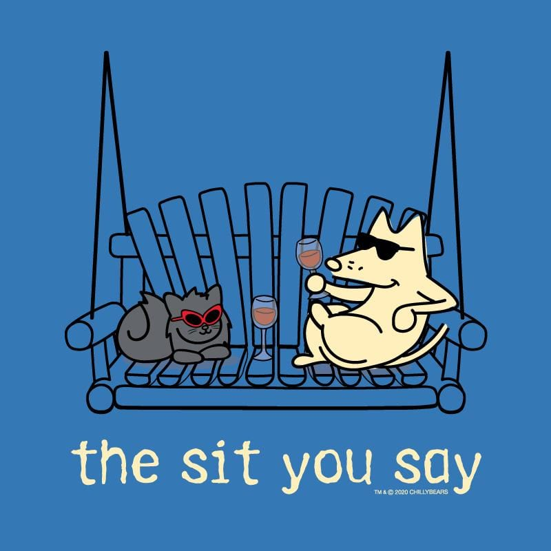 The Sit You Say - Long-Sleeve Hoodie T-Shirt