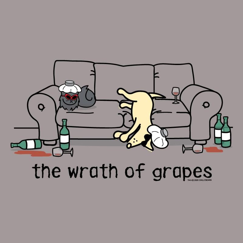 The Wrath Of Grapes - Ladies Curvy V-Neck Tee