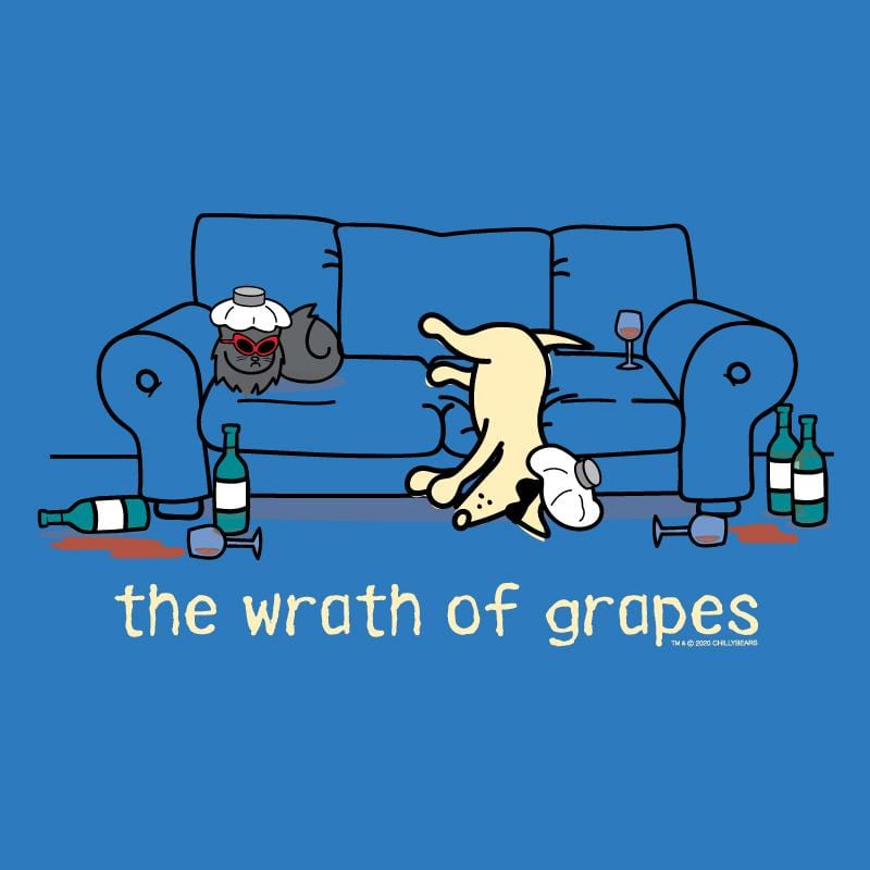 The Wrath Of Grapes - Long-Sleeve Hoodie T-Shirt
