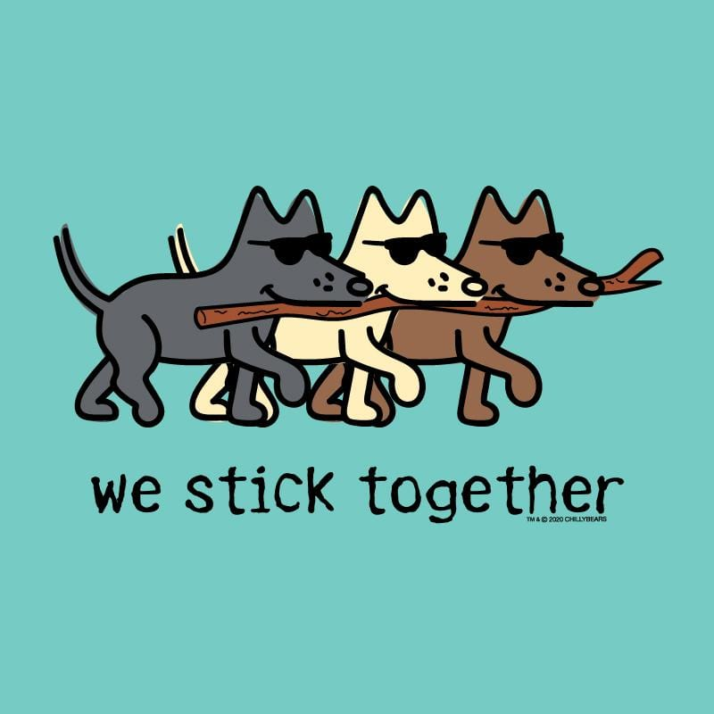 We Stick Together - Ladies Curvy V-Neck Tee