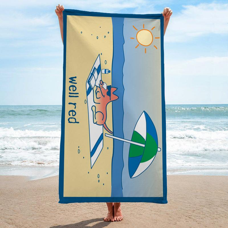 Well Red - Beach Towel