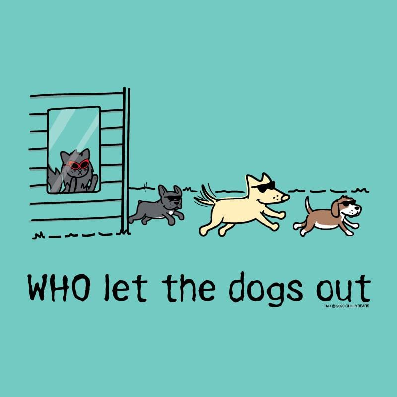 WHO Let The Dogs Out - Ladies T-Shirt V-Neck