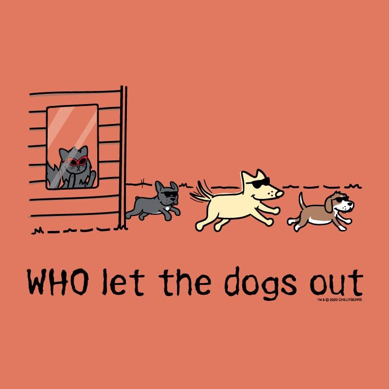 WHO Let The Dogs Out - Ladies Curvy V-Neck Tee