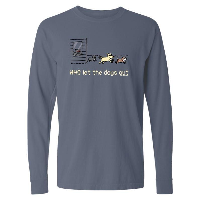 WHO Let The Dogs Out  - Classic Long-Sleeve T-Shirt