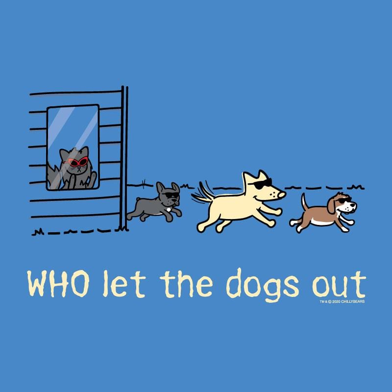 WHO Let The Dogs Out - Long-Sleeve Hoodie T-Shirt