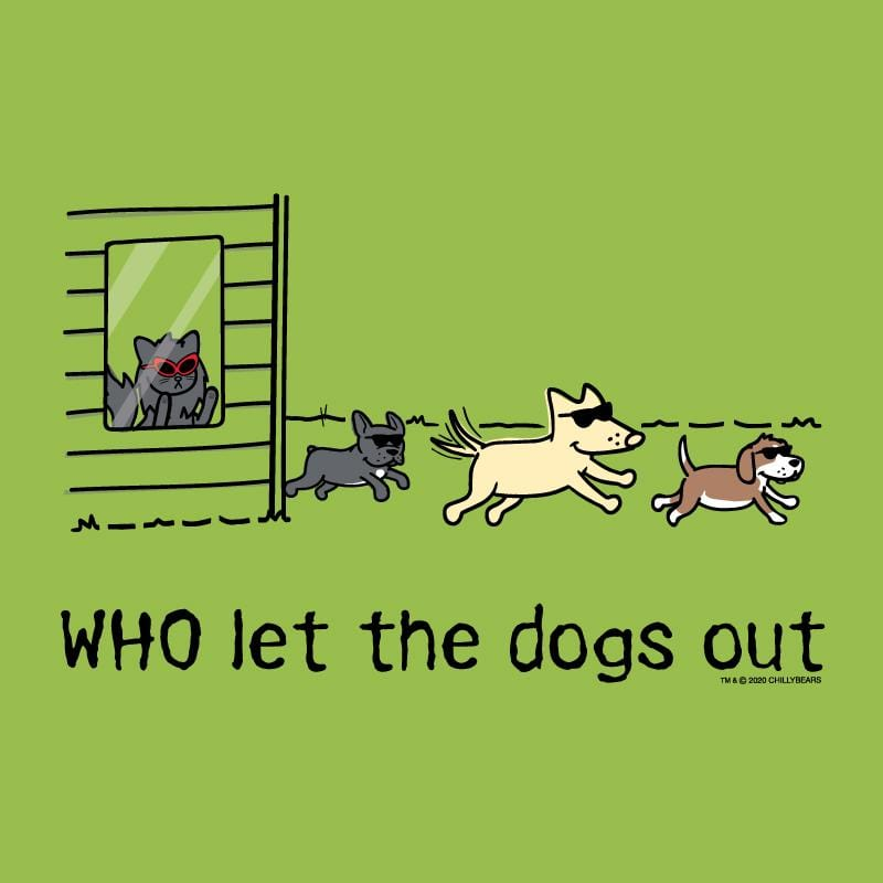 WHO Let The Dogs Out - Canvas Tote