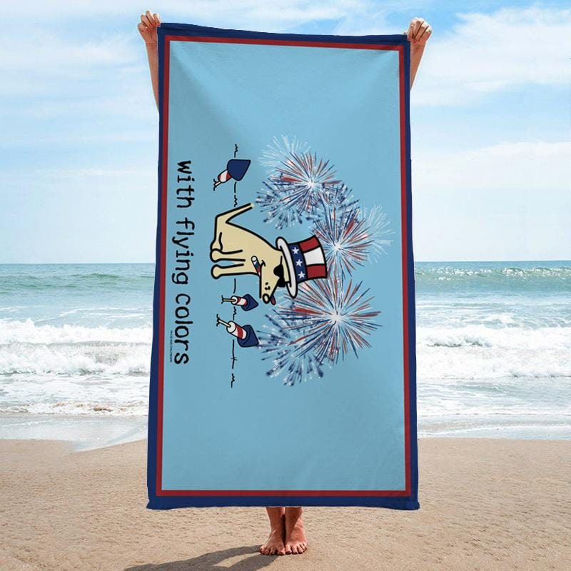 With Flying Colors - Beach Towel