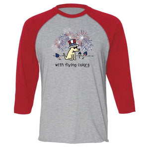 With Flying Colors - Baseball T-Shirt