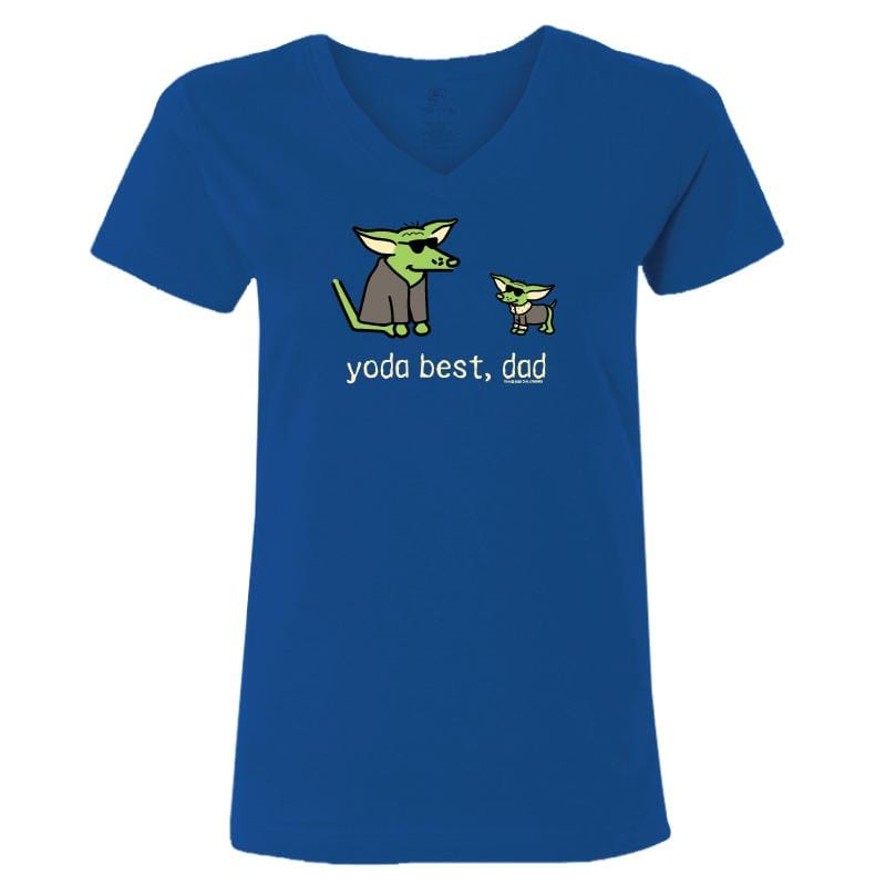 Yoda Best, Dad - Ladies V-Neck