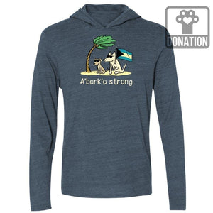 Teddy's A'Bark'o Strong - Long-Sleeve Hoodie T-Shirt