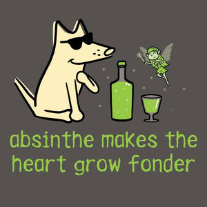 Absinthe Makes The Heart Grow Fonder - Ladies T-Shirt V-Neck
