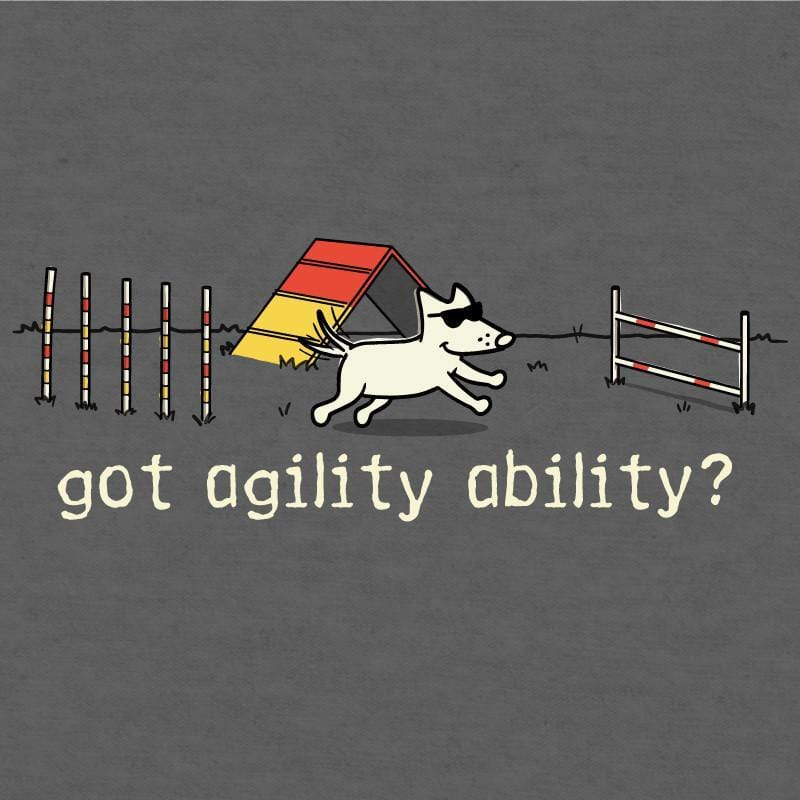 Agility Ability - T-Shirt Lightweight Blend - Teddy the Dog T-Shirts and Gifts