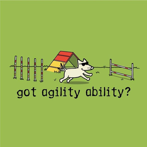 Teddy's Agility Ability Canvas Tote - Teddy the Dog T-Shirts and Gifts