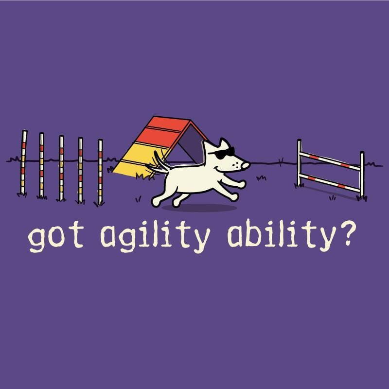 Agility Ability - Ladies T-Shirt V-Neck - Teddy the Dog T-Shirts and Gifts