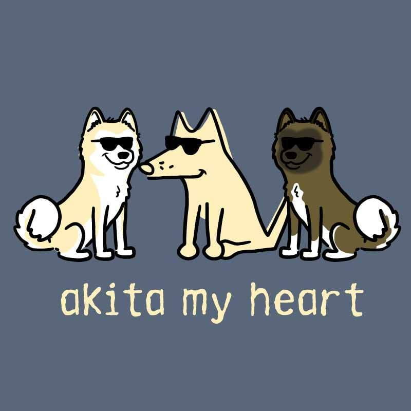 Akita My Heart - Classic Tee - Teddy the Dog T-Shirts and Gifts