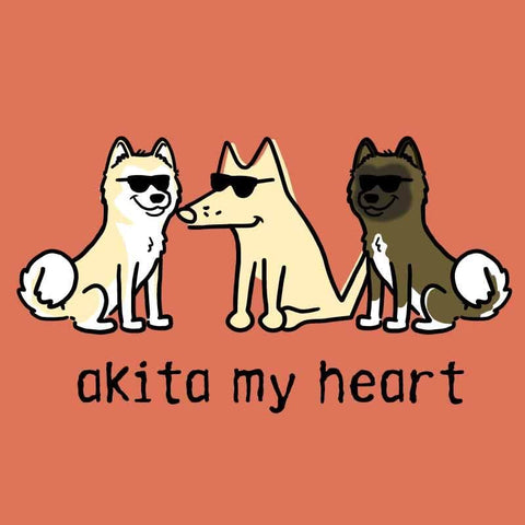 Akita My Heart - Ladies T-Shirt Crew Neck