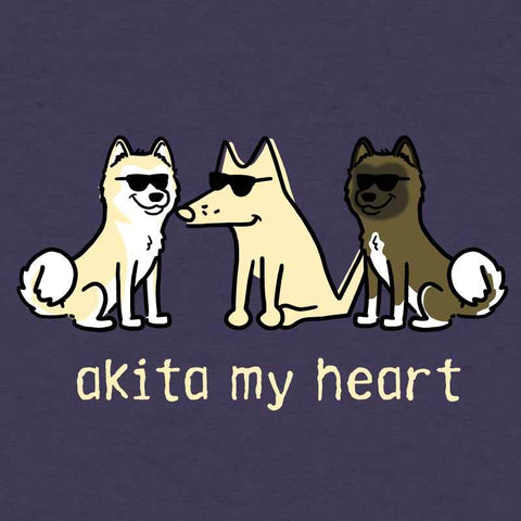 Akita My Heart - Ladies Curvy V-Neck Tee