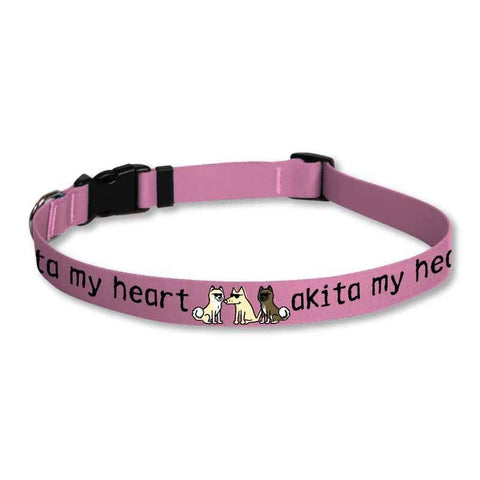 Akita My Heart - Dog Collars