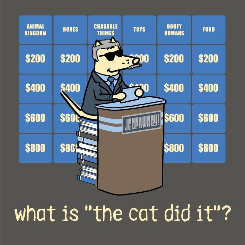 "What Is ""The Cat Did It""? - Ladies T-Shirt V-Neck"